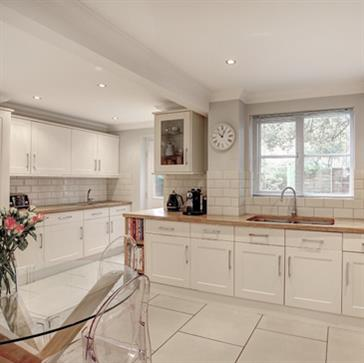 Kitchen Diner with Oak Worktops